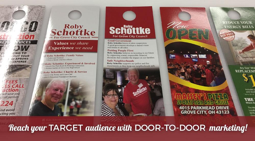 Door-to-Door Marketing with Door Hangers